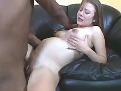 Pregnant chick gets cumload on face